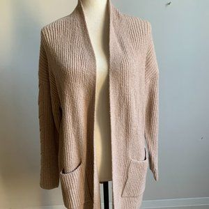 Lucky Brand Cardigan tan beige New sz M pockets
